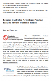 CEDAW 2016. Tobacco Control in Argentina: Pending Tasks to Protect Women's Health