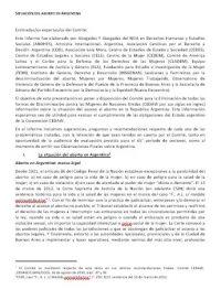 CEDAW2016. Situación del aborto en Argentina. Informe sombra.