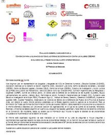 CEDAW2016. Informe sombra de evaluación sobre el cumplimiento de CEDAW