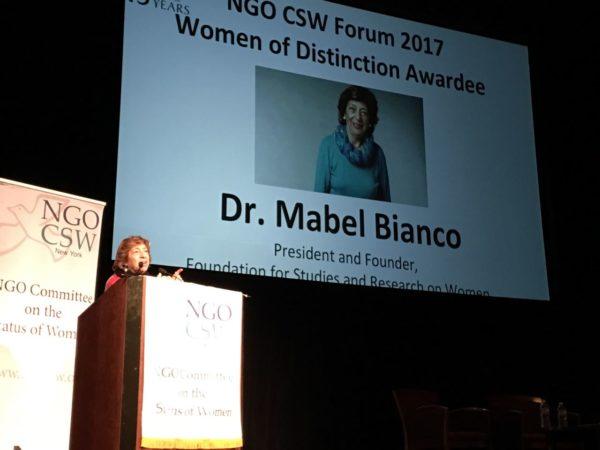 Mabel Bianco: Premio mujer distinguida del año