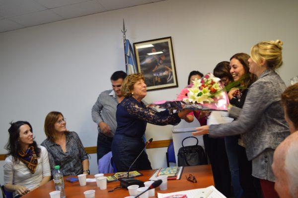 Emotivo homenaje a la presidenta de FEIM en el Congreso