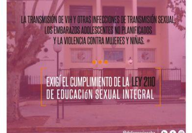 Para que se cumpla la Ley de Educación Sexual en todas las escuelas