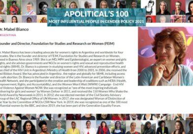 Mabel Bianco entre las 100 personas más influyentes en la política de género en 2021